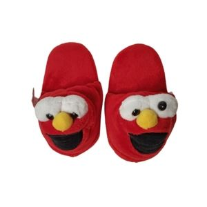 Kids Elmo Slippers Red Size 11